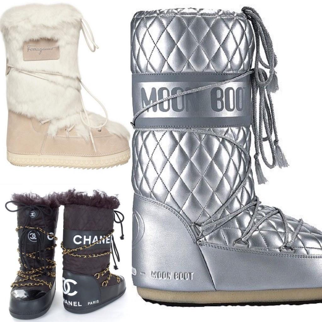 Interessanti i modelli di Ferragamo e di Chanel. Personalmente adoro i classici Moon Boot.