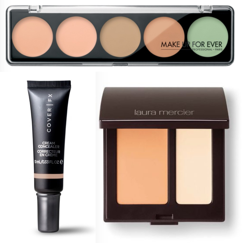 MAKE UP FOR EVER 5 Camouflage Cream Palette Color Correct & Concealer; Cover FX Cream Concealer; Laura Mercier Secret Camouflage
