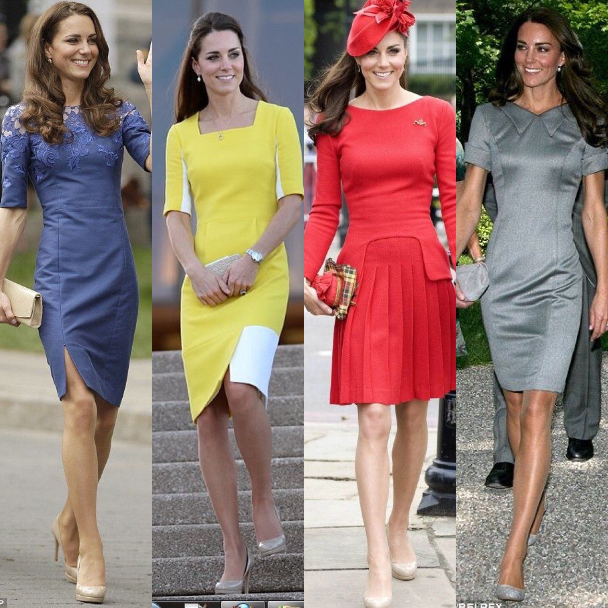 Kate Middleton 39 S Looks And Her Incredible Metamorphosis Consulente Di Immagine Rossella