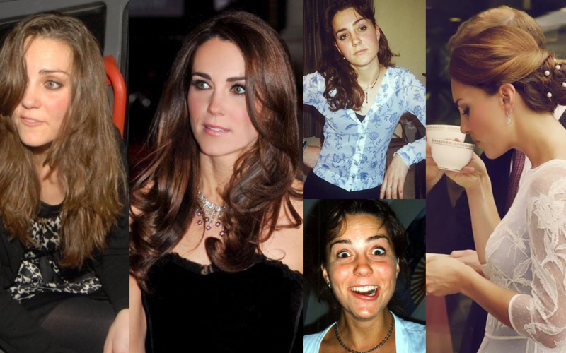 Kate Middleton's looks and her incredible metamorphosis