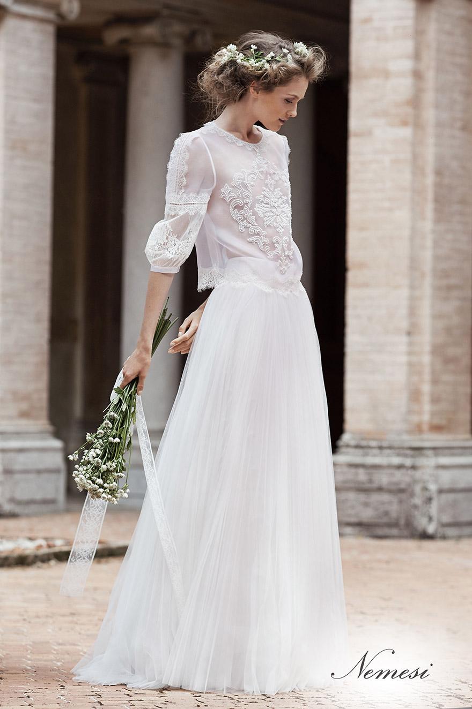 Stilisti abiti da sposa boho chic