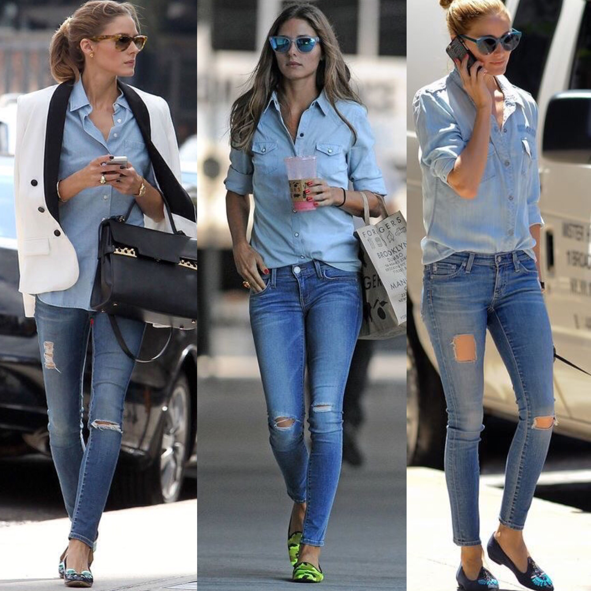 HOW TO WEAR THE DENIM SHIRT  21