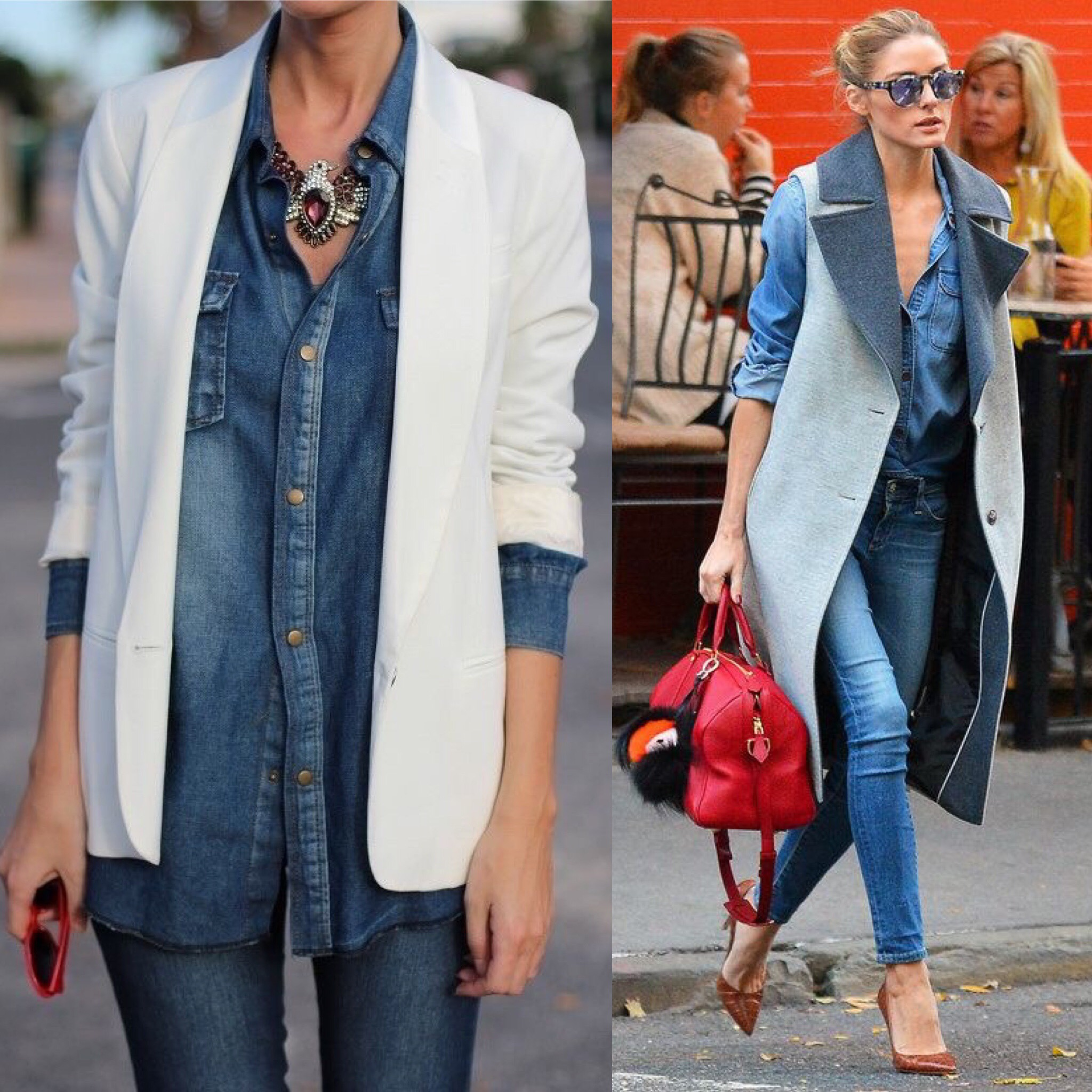 HOW TO WEAR THE DENIM SHIRT  22