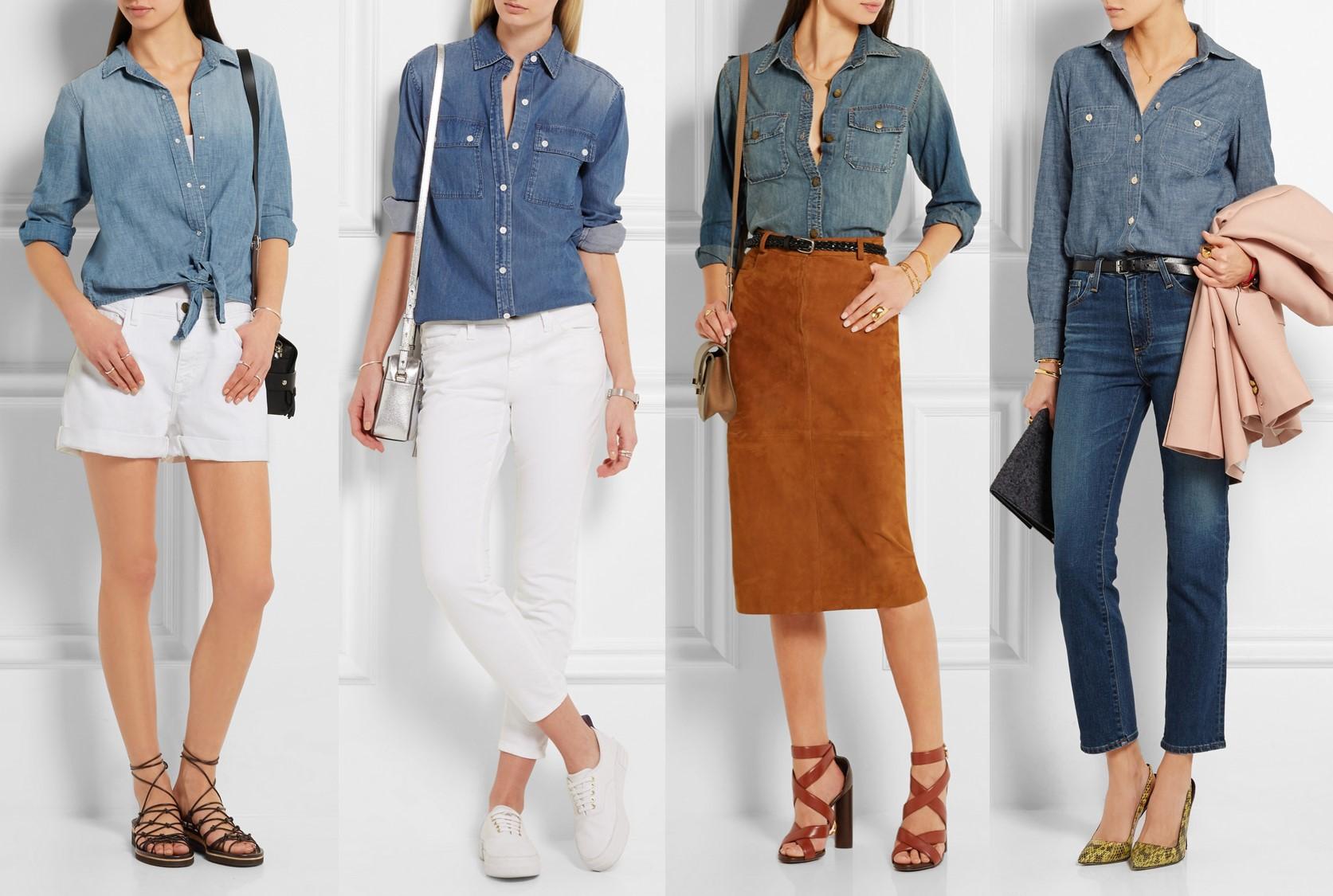 f449d35050 10 modi per indossare la camicia di jeans | Consulente di immagine ...