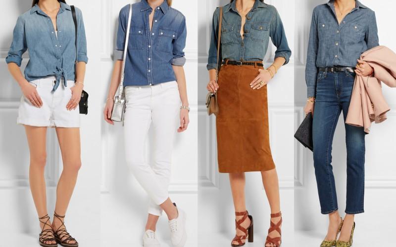 10 modi per indossare la camicia di jeans