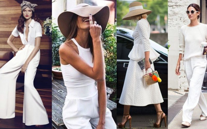 The timeless charm of the total white in summer