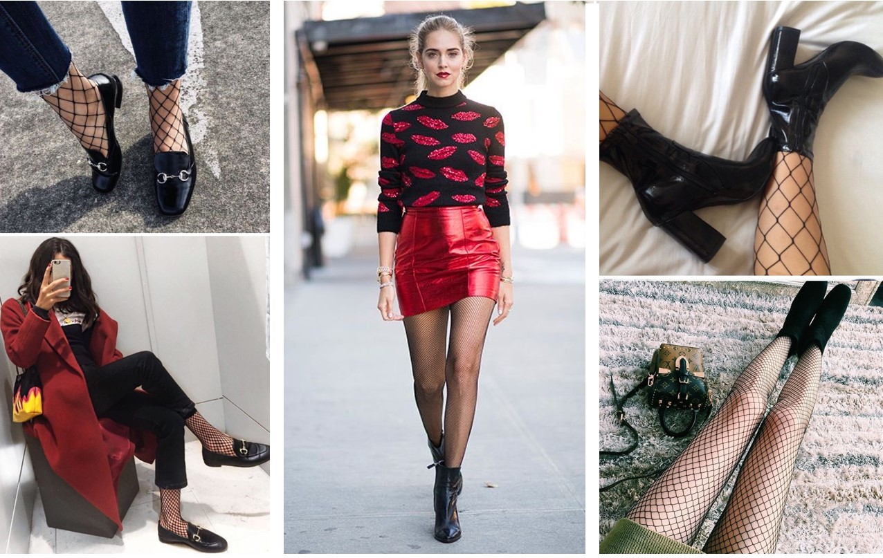 8eb67c867 From the catwalks to street style, through Socials, they are all crazy for  fishnet stockings!