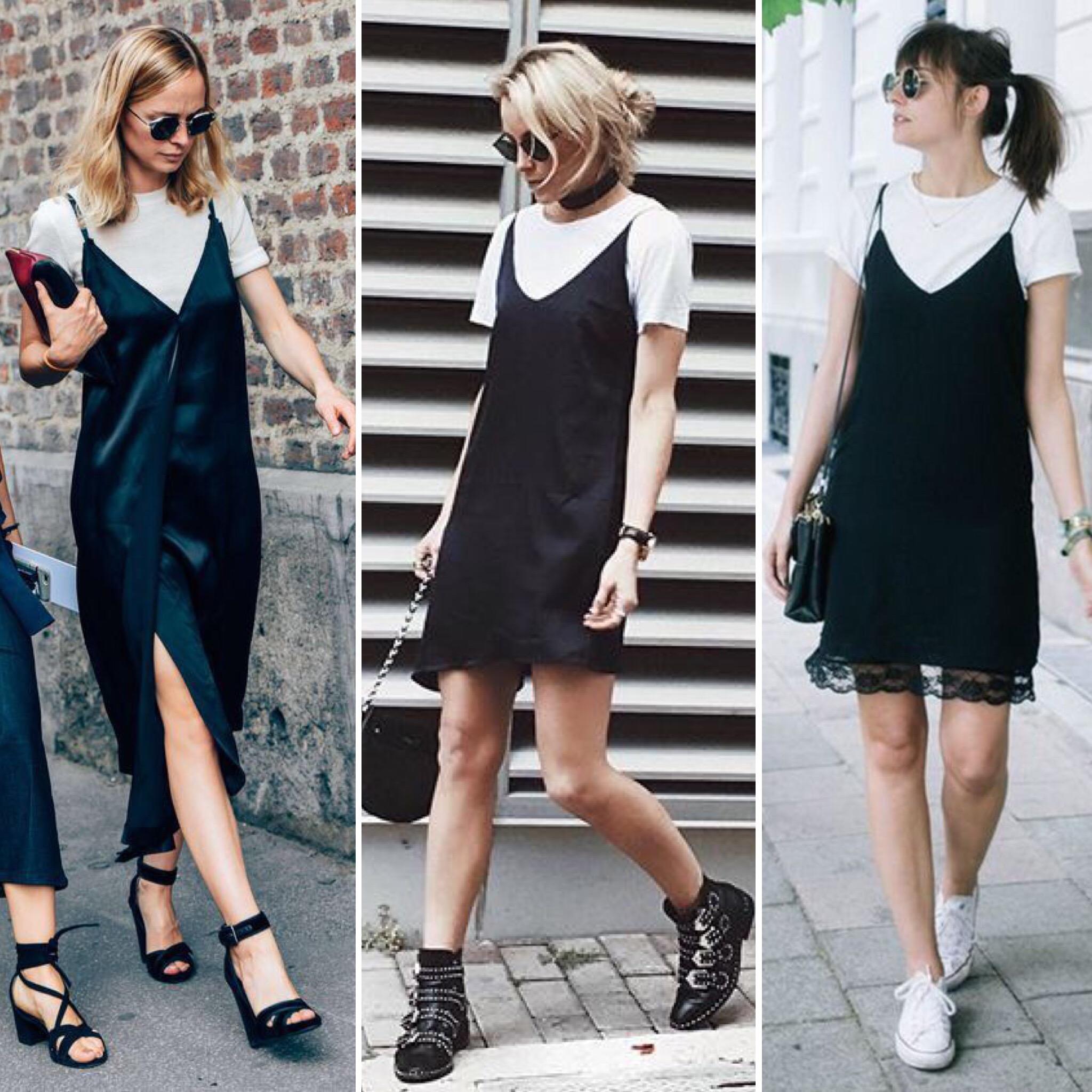 online store 79cd7 d3cbe Come (e perché) indossare la t-shirt sotto il vestito ...